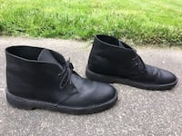CLARKS ORIGINALS BUSHACRE 2 MIDNIGHT BLACK LEATHER HIPSTER CHUKKA BOOTS 8 1/2 M Puyallup, 98373
