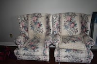white and blue floral fabric sofa Ancaster, L9G 3X5
