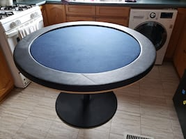 Poker Table and metal stand.