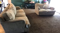 brown fabric 3-seat sofa Visalia, 93292