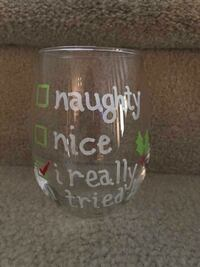 clear and white shot glass Langley, V2Y 0B4
