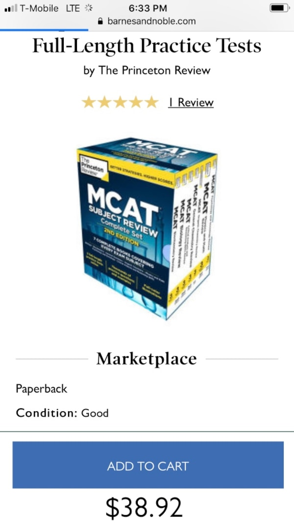 MCAT PRINCETON REVIEW TEXTBOOKS 28a39444-5ac1-4258-b641-ce6c86bb6e4f