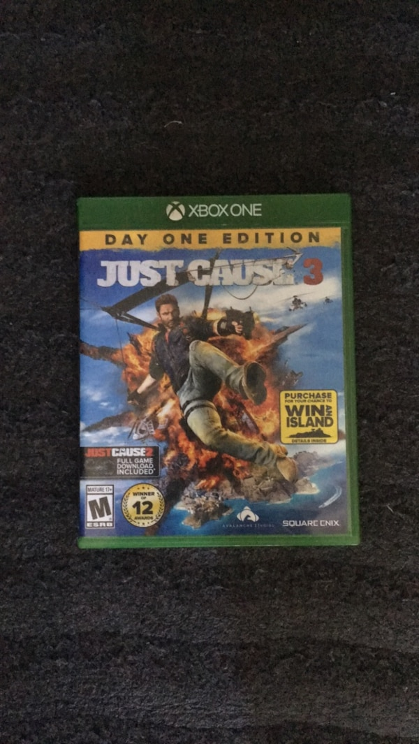 Xbox 360 Just Cause 3 game case