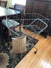 Vintage Laundry Cart & Clothes Pin Holder Bloomfield, 07003