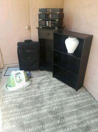 black wooden TV stand with cabinet Chula Vista, 91910