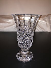 """Rare Glendale by Waterford 10"""" flared footed vase"""