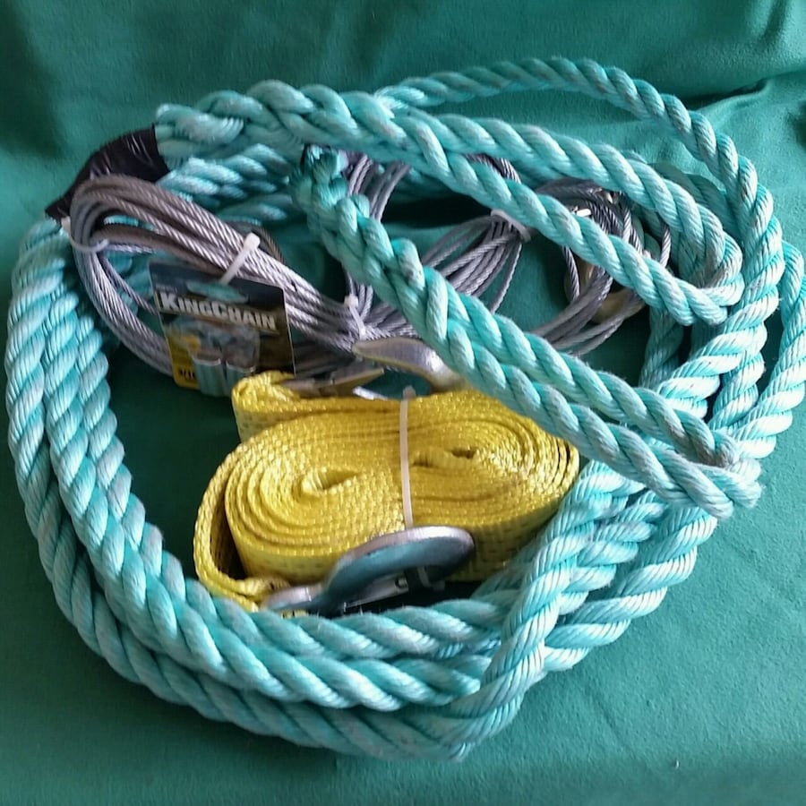 tow strap 25'/rope 25'/cable 50'