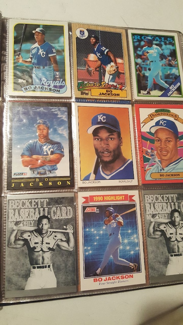 54 Football Baseball Trading Cards Bo Jackson