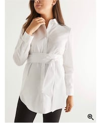 Stork & Babe - Maternity Collar Blouse with Belt Mississauga, L5B 1T2