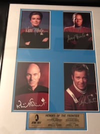 Authentic Signed Pictures Of Star Trek Captains