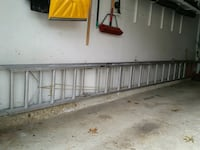 Ladder    aluminum 2 story  each section 18 ft. Rolling Meadows