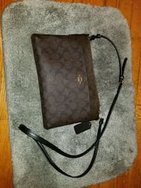 brown monogrammed Coach crossbody bag Redford Charter Township, 48239