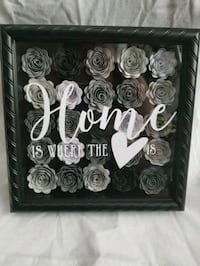 Custom paper flower shadow box sign Manteca, 95337