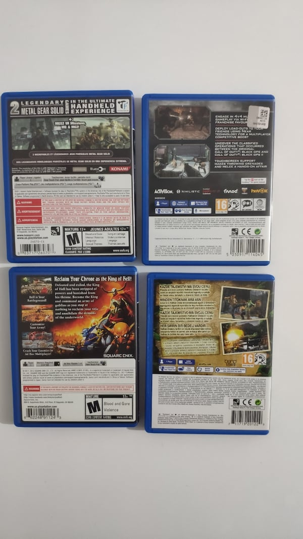 PS Vita Oyun - Call of Duty, Uncharted, Metal Gear Solid, Army Corps e6c95056-e3a1-4bf2-95fa-1b7c3ee55afa