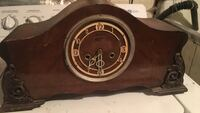 Brown wooden desk clock Toronto