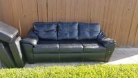 black leather 3-seat sofa Brownsville, 78520