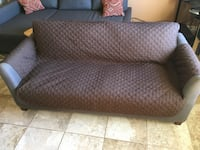 Brown cover for couch