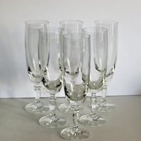 6 Crystal Champagne Flutes White Wine Goblets Fanc Mississauga