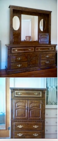 Hutch bureau and chest amoire matching. 1980s must sell  brown Fairhaven, 02719