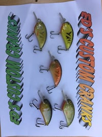 Sic green and grey fish lures Warren, 44484