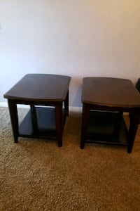 two brown wooden side tables Las Vegas, 89139