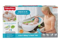 Fisher price 4 in 1 sling n seat bath tub for baby to toddler  Halethorpe, 21227