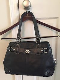 Coach Carly black Leather Carryall Purse Bag Satchel Tote  Ashburn, 20148