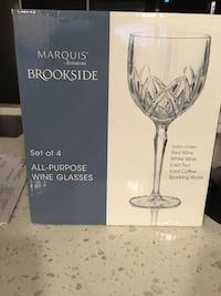 Clear marquis brookside wine glass box Sterling, 20166
