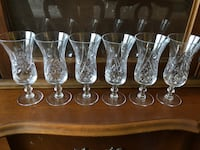 Real crystal wine glasses  Toronto, M3B 1B2