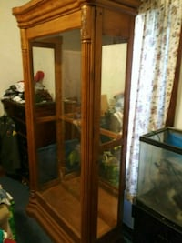 brown wooden framed glass display cabinet Rosedale, 21237