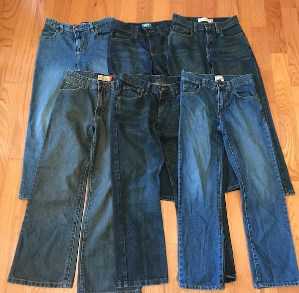 Boy's Jeans Lot (6) in excellent condition, Size 12
