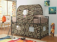 Army Camo Loft bed and Tent ** FREE DELIVERY ** FINANCING AVAILABLE  Las Vegas