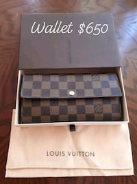 black and gray Louis Vuitton leather wallet Edmonton, T5P 0L1