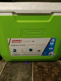 Coleman wheeled cooler 58 quart or 89 cans