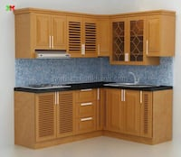 brown wooden kitchen cupboard set Burnaby, V5G 2R4