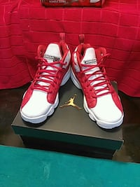 Red and white Jordan's 6.5y Charlotte, 28209