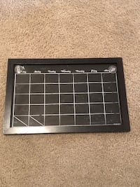"""Chalk board calendar . Easy to wipe off and reuse . Comes with two """"to do"""" magnets  Mesa, 85207"""