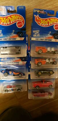 (8) 1997 Hot Wheels first edition new in package