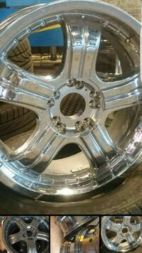 Chrome 5 spokes automotive rims Haukeland, 5268