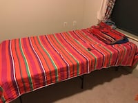 Red and white striped bed sheet Mc Lean, 22102