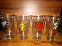 Game of Thrones drinking glass set.  Whitby, L1P 1A1