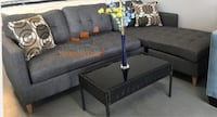 Brand new grey linen sectional sofa with reversible chaise  Silver Spring, 20902