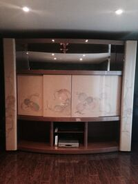 Hand painted &  Laquered media and bar wall unit