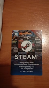 $50 Steam card for sale