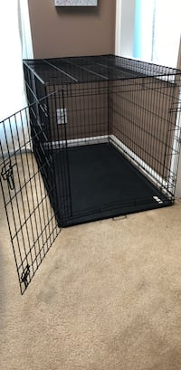 black metal folding dog crate Lorton, 22079