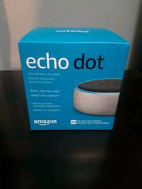 Brand new amazon echo dot heather grey