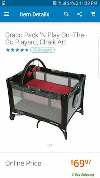 97773aa92d4 Used black and red Graco pack n play on the god playard screenshot ...