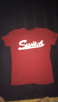 Red and white switch t-shirt (kids)