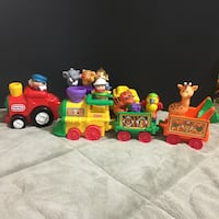 Little tikes and fisher price trains 46 km