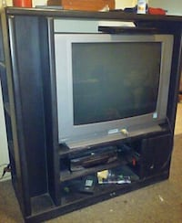 gray CRT TV with TV stand Jacksonville